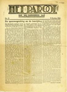 Voorpagina_Het Parool_1944-10-09