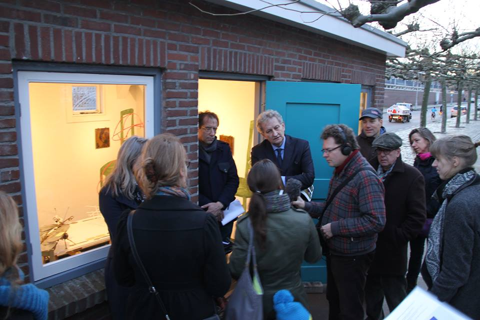 'Dit is voor mij een uitje' Burgemeester Van der Laan op bezoek in Museum Perron Oost